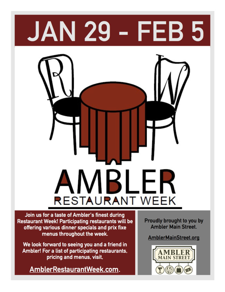 Ambler Restaurant Week – January 29-February 5, 2018