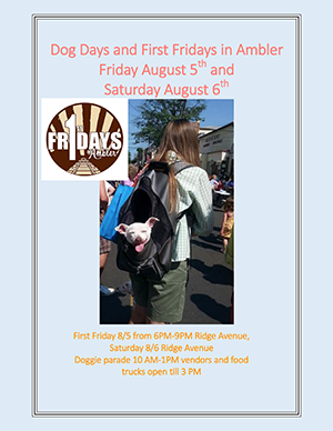 AMS 2016 Dog Days and First Fridays in Ambler